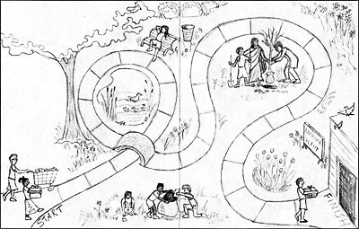 Dolphin Log Magazine Earth Day Board Game Sketches